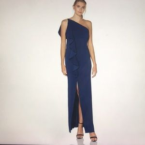 Laundry by Sheli Segal one shoulder gown dress 6